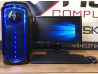 New Fast Gaming PC Computer 6 Core 8GB Ram 128GB SSD 2GB Graphics Card Free Delivery Minecraft CSGO