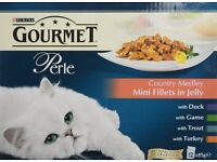 BNIB Purina Gourmet Perle Country Medley in Jelly Cat Food Pouches 48 pk