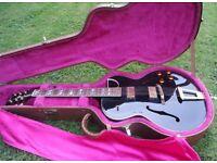 Gibson ES-175 Ebony Black Beauty 1991 with OHSC
