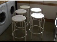 Five Bar Stools / Foot Rest Chair Kitchen Breakfast Seat #FREE LOCAL DELIVERY#