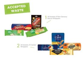WANTED - Recycle plastic for charity - pens, biscuit wrappers, beauty products & cleaning products