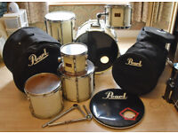 3 PIECE WHITE PEARL MLX DRUM KIT + BAGS AND EXTRAS! - N21 ENFIELD