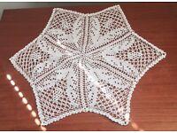 Beautiful Handmade Table Mat (white) (set of 4)
