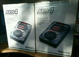 2 x Numark axis4 DJ CD Players