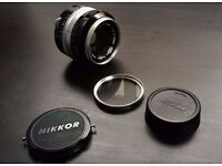 Nikkor 50mm f/1.4 vintage lens Nikon AI mount with a Canon adapter