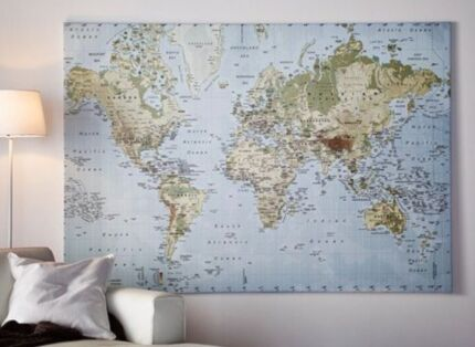 Large framed world map print poster society6 picture frames ikea premiar canvas world map gumiabroncs Gallery