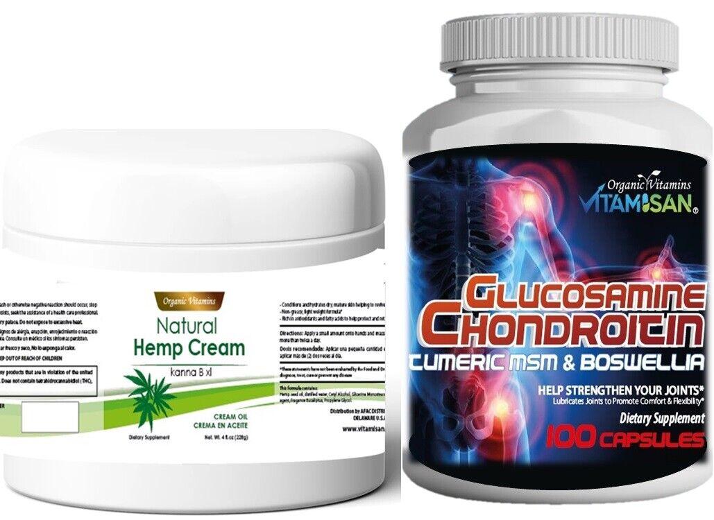 Hemp Activ Hemp Relief Cream 4oz Skin Irritation JOINT Muscle Pain Relief+PILLS 2