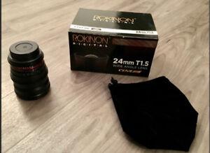 Rokinon 24mm T1.5 Cine Lens
