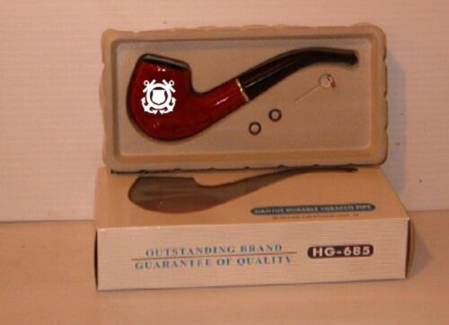 NEW FULL SIZE TOBACCO SMOKING PIPE WITH COAST GUARD EMBLEM ,  FREE SHIPPING