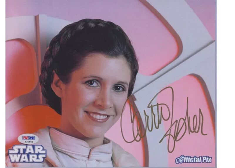 Carrie Fisher Autographed Signed Star Wars 8x10 Photo! Princess Leia! PSA/DNA