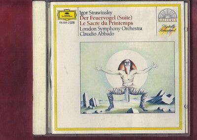 STRAVINSKY-SAGRA DELLA PRIMAVERA,UCCELLO DI FUOCO ABBADO CD APERTO NON SIGILLATO