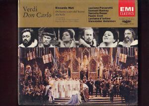 GIUSEPPE-VERDI-DON-CARLO-pavarotti-ramey-muti-3CD-libretto-NUOVO-SIGILLATO