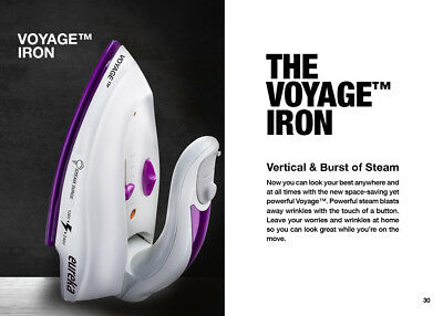 Eureka Voyage Compact and Durable Travel Iron with Nano Ceramic Non-Stick Shield