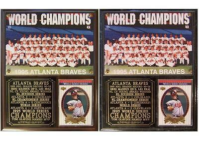 - Atlanta Braves 1995 World Series Champions Photo Card Plaque Tom Glavine MVP