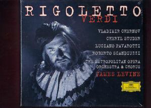 VERDI-RIGOLETTO-pavarotti-levine-2CD-libretto-NUOVO-SIGILLATO
