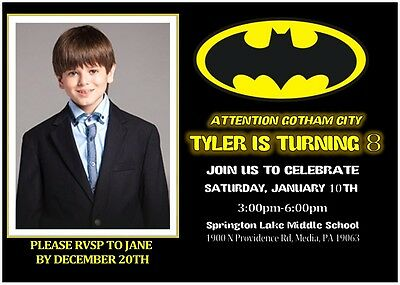 Batman Custom Invitations  Save Money! You Print! (Custom Batman Invitations)