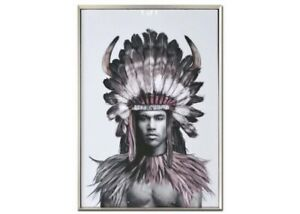 Native American Indian Boho Luxe Framed Painting Print Canvas Wall Art Camp Hill Brisbane South East Preview
