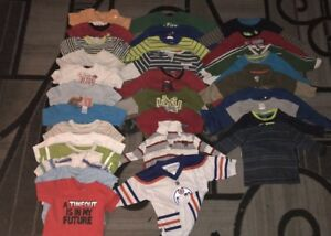 31 boys shirts size 12 12-18 months for 15$