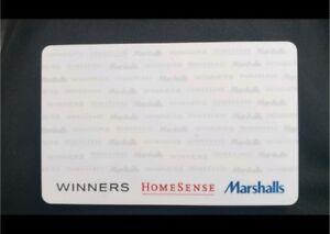 Winners Home sense Marshalls gift card ... SAVE BIIIIGGG