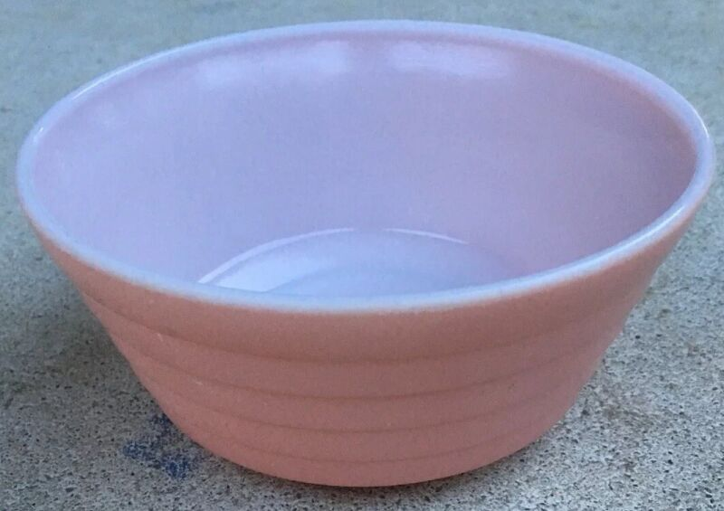 Vintage Hazel Atlas Moderntone Pastel Pink Cereal Bowl ~ 1940