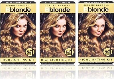3X Jerome Russell BBlonde Highlighting Kit