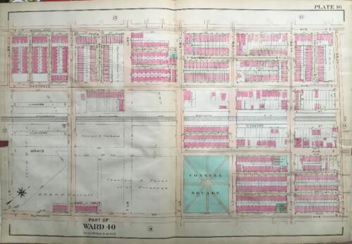 1910 ELMWOOD PHILADELPHIA PA CONNELL PARK BARTRAM HS OLIVET CHURCH ATLAS MAP