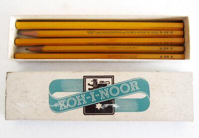 Pencil Boxes In Bulk (5 Vintage Koh-i-noor Drawing Pencils in Original Box L. & C. Hardtmuth, Inc.,)