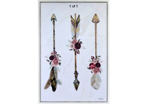 Boho Dreams Arrows Luxe Framed Painting Print Canvas Floral Wall Art Camp Hill Brisbane South East Preview