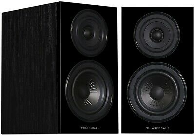 Wharfedale Diamond 12.1 Pair of Bookshelf Speakers in Black Oak