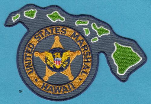 HAWAII US MARSHAL  STATE SHAPE  POLICE SHOULDER PATCH   (Gold variation)