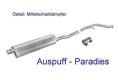 Auspuff Auspuffanlage Mittelrohr Endschalldämpfer für Peugeot 206 1,4 HDI Kombi