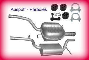Abgasanlage Auspuff VW Passat 3C 1.6 FSi Typ 3C2/5 115PS ab Bj. 03/2005 + Kit