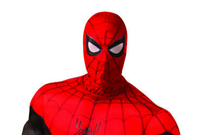 Spider Man Far From Home Mens Adult Superhero Red Black Costume Mask