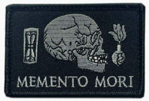 "Memento Mori Embroidered Patch [3.0 X 2.0 inch -""Velcro Brand"" Fastener-MM7]"