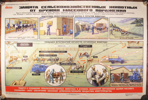 Soviet+Military+Big+Poster+87x58cm%2F34x22inch+Civil+Defense+Ministry+Moscow+1979
