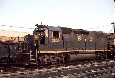 Baltimore & Ohio (B&O) - GP38 - #3809 - Original 35mm Slide