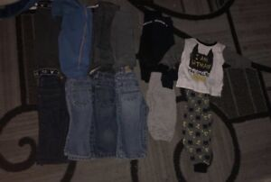 Boys pants size 12 12-18 months and pjs