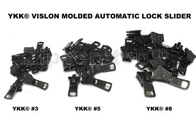 Deal of the Day - DEAL OF THE DAY YKK® #3, #5 OR # 8 Vislon Molded Slider Automatic Lock made USA