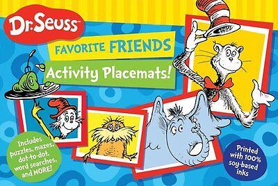 Dr. Seuss Favorite Friends Activity Placemats (pb) puzzles,mazes,dot to dot - Dr Seuss Activity