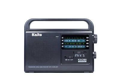 2017 Kaito KA390 AM/FM/SW NOAA Weather Radio w/ LED Lamp! Qu