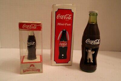 Vintage Coca Cola Coke Memorabilia - Bear in Bottle/Fan/King's Island Bottle