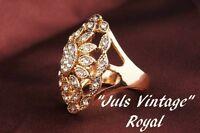 Anello Anni20 Con Topazi,diamanti Lega Platino/oro Cm.3,2x2,2: Favoloso Romanov -  - ebay.it