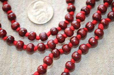 Rosewood Red Sandalwood Hand Knotted Mala Beads Necklace - Karma Nirvana