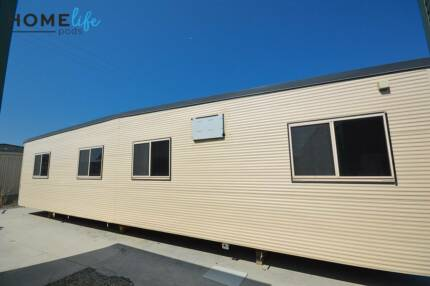 Atco 12m x 3m transportable building - 2 rooms and desks