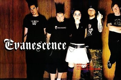 Poster  Evanescence Amy Lee   11X16 Rock Band In Black