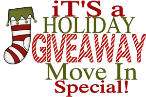 $1000 Holiday Giveaway Move-in Special!