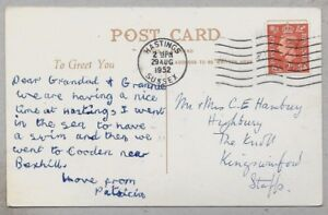 1952 Postcard sent to Mr & Mrs Hambrey, Highbury, The Knoll, Kingswinford,Staffs