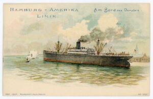 HAMBURG - AMERIKA LINIE. Am Bord des Dampfers. Early Postcard
