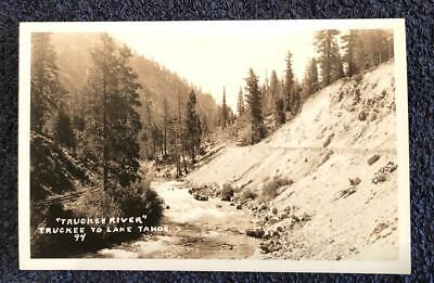 RPPC CA Lake Tahoe Truckee River Placerville Old Car Pre 1907, used for sale  Bella Vista