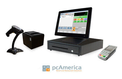 Retail Point Of Sale System -cash Register Express Monthly Pos W Payment Pinpad